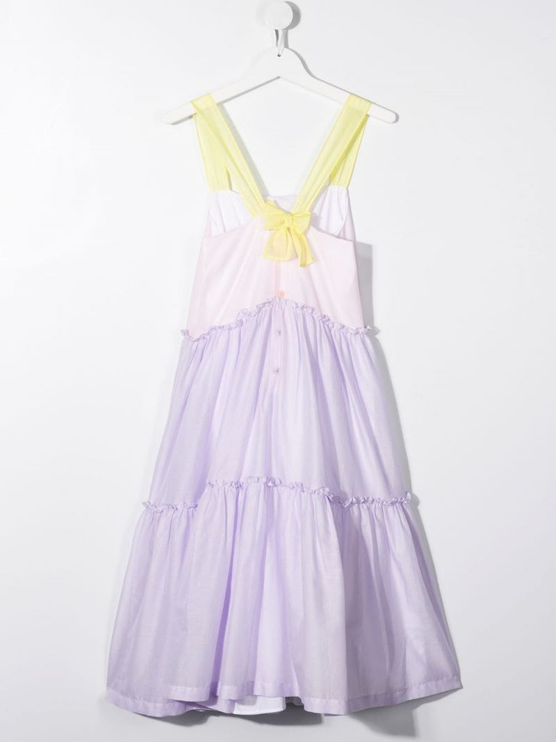 IL GUFO: cotton voile flounced dress_2