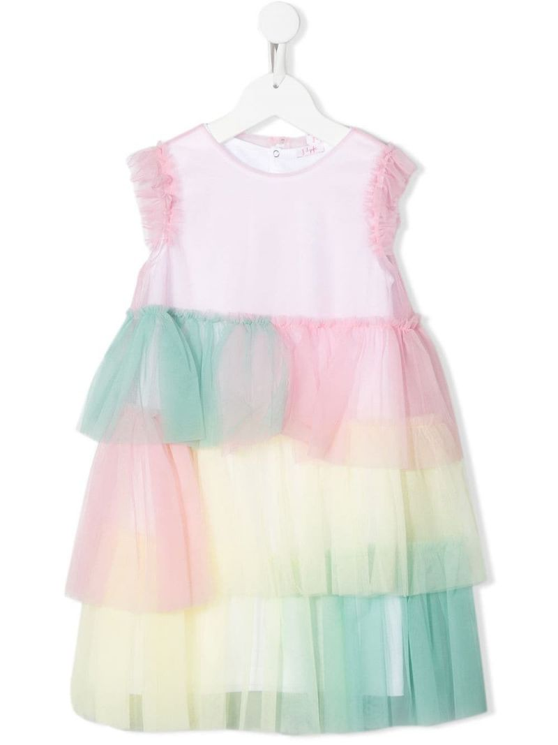 IL GUFO: tulle sleeveless dress Color Pink_1