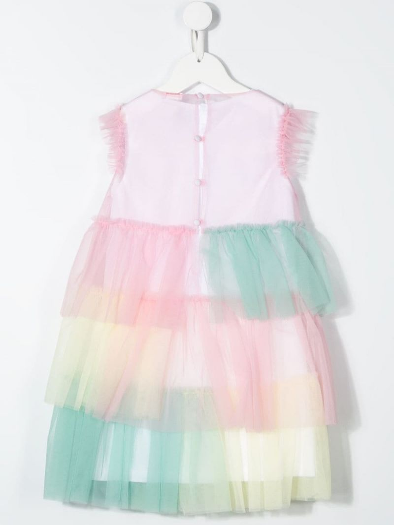 IL GUFO: tulle sleeveless dress Color Pink_2
