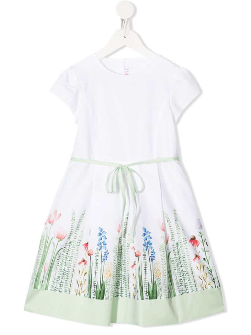 IL GUFO: floral print cotton dress_1