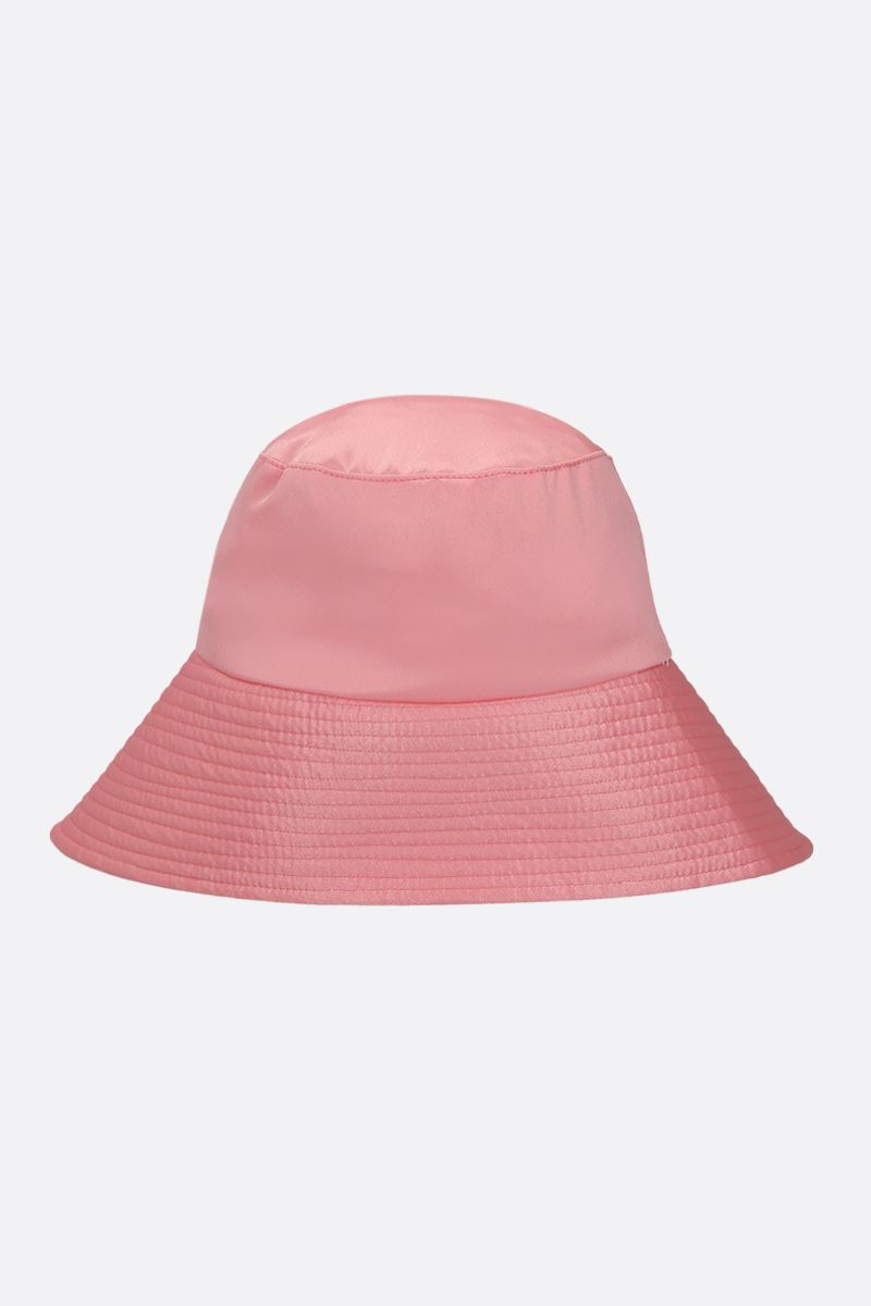 IRENEISGOOD: shiny satin bucket hat Color Pink_1