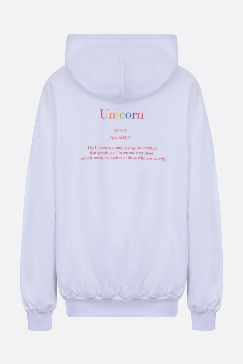 IRENEISGOOD: Save The Unicorn cotton oversize hoodie Color White_2