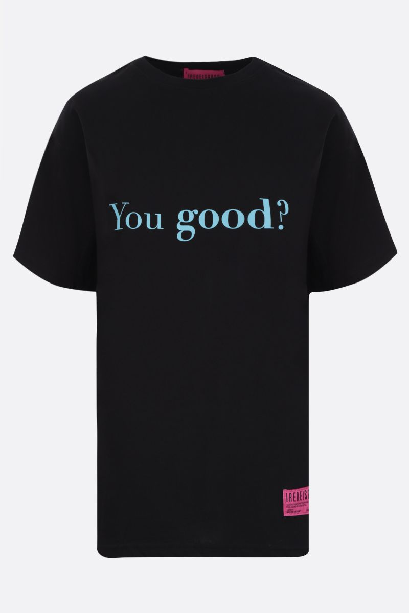IRENEISGOOD: t-shirt You Good / I'm Good in cotone Colore Nero_1