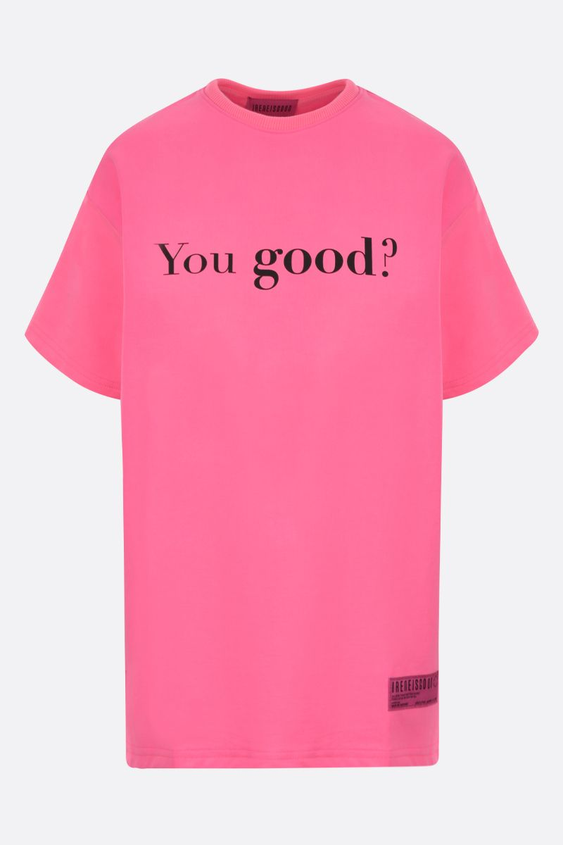 IRENEISGOOD: t-shirt You Good / I'm Good in cotone Colore Rosso_1