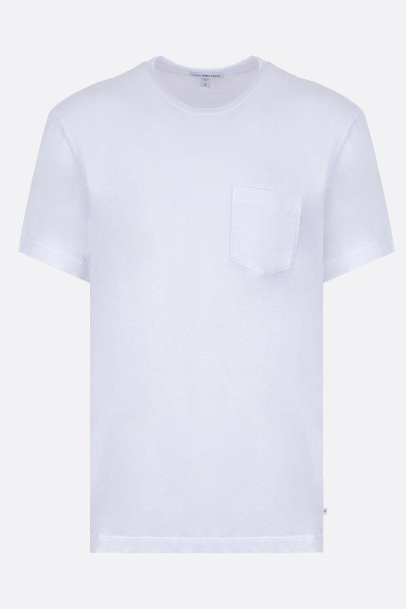 JAMES PERSE: t-shirt regular-fit in jersey di cotone Colore Bianco_1