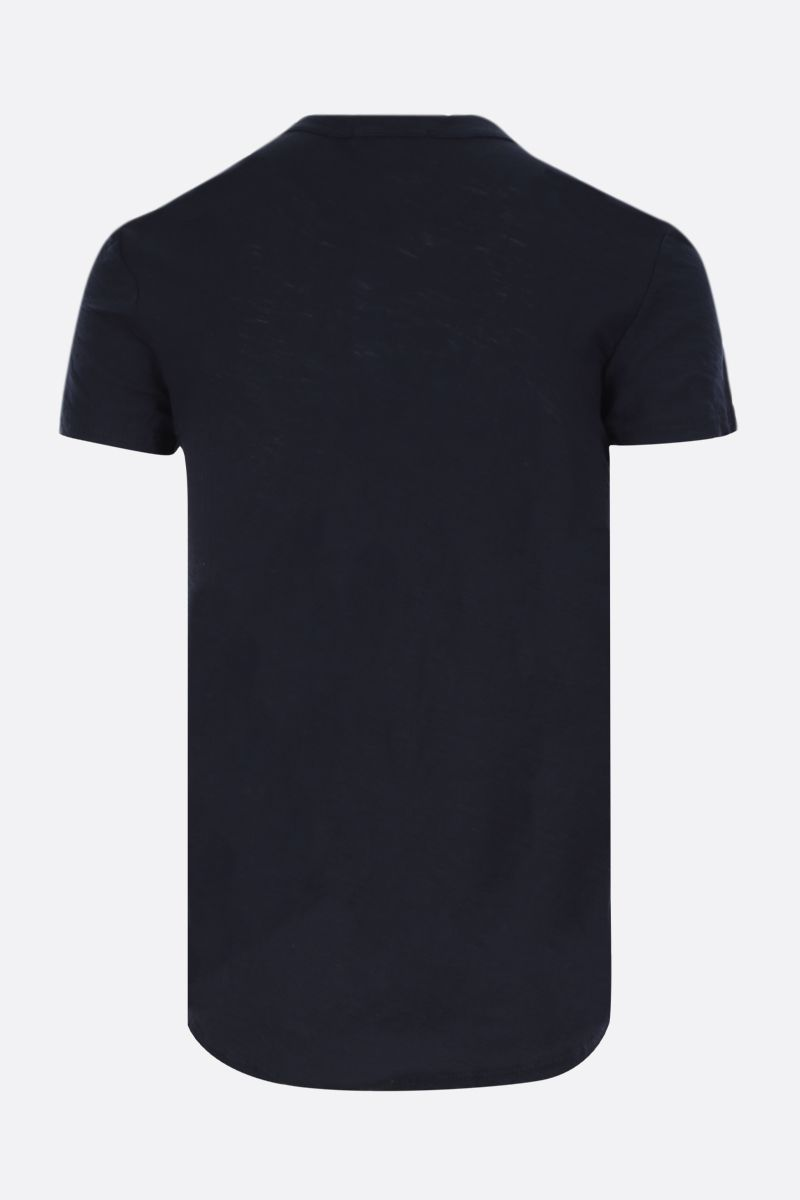 JAMES PERSE: cotton basic t-shirt Color Blue_2