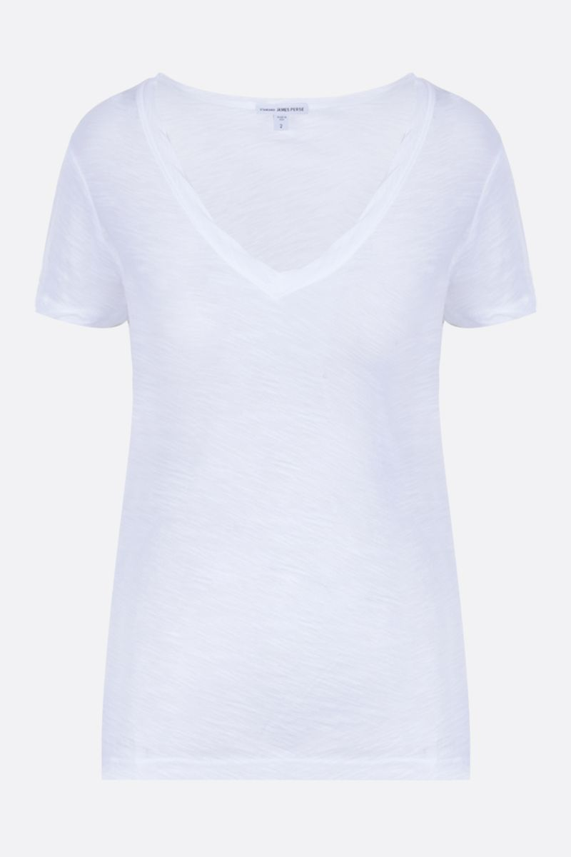 JAMES PERSE: cotton jersey slim-fit t-shirt Color White_1