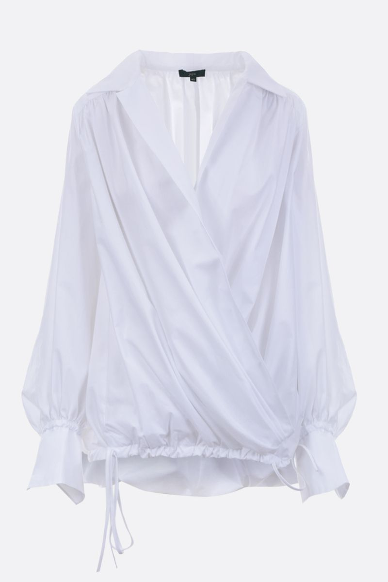JEJIA: cotton poplin blouse Color White_1