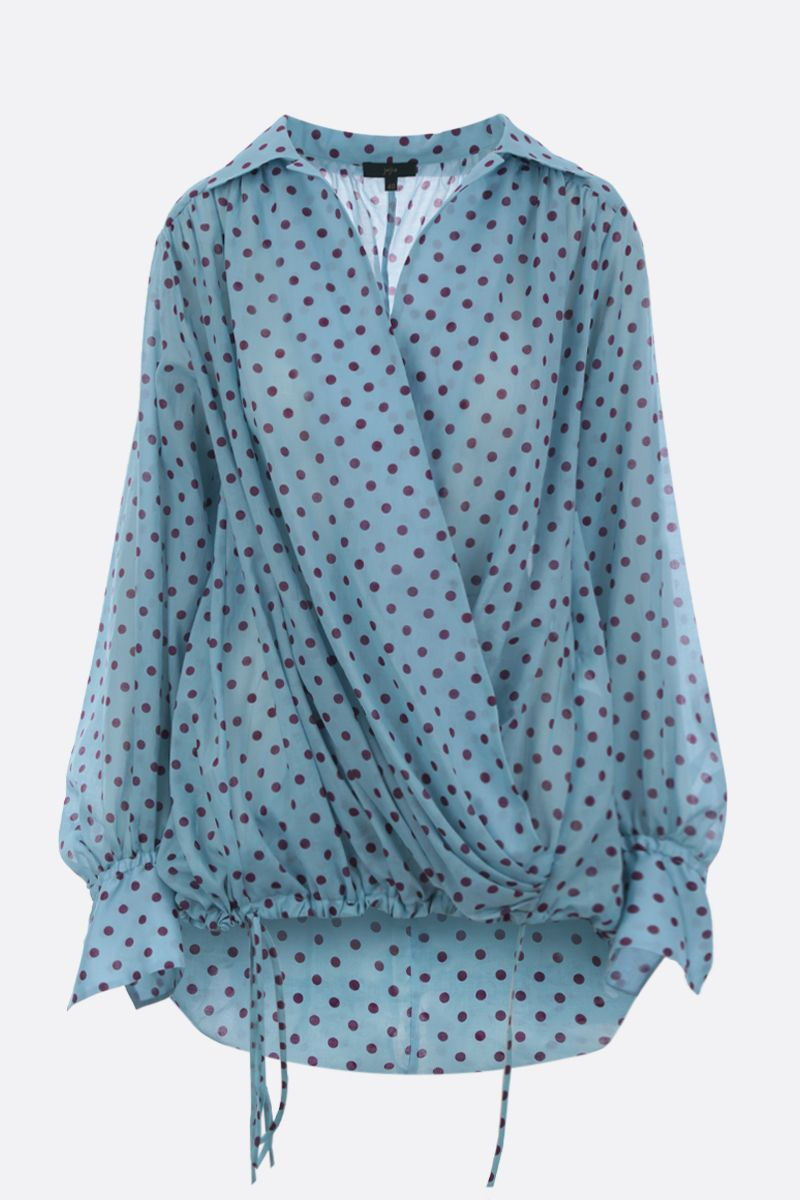 JEJIA: blusa in cotone a pois_1