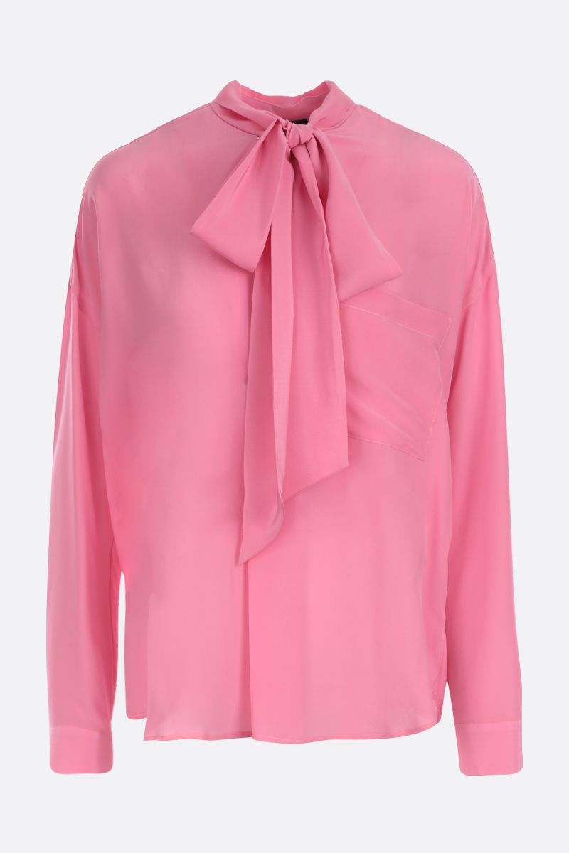 JEJIA: Jackie crepe de chine blouse Color Pink_1