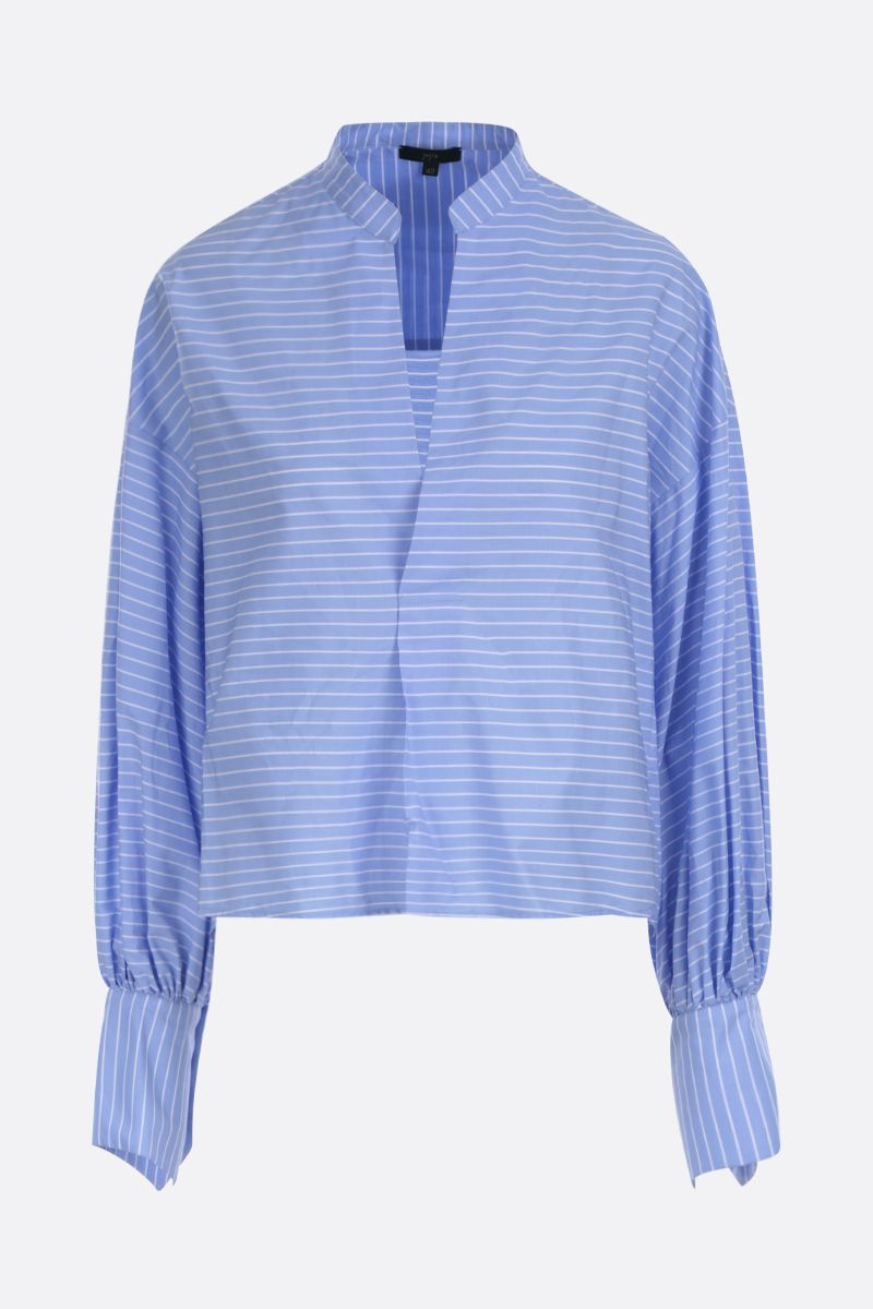 JEJIA: Maggie striped cotton blouse Color Blue_1