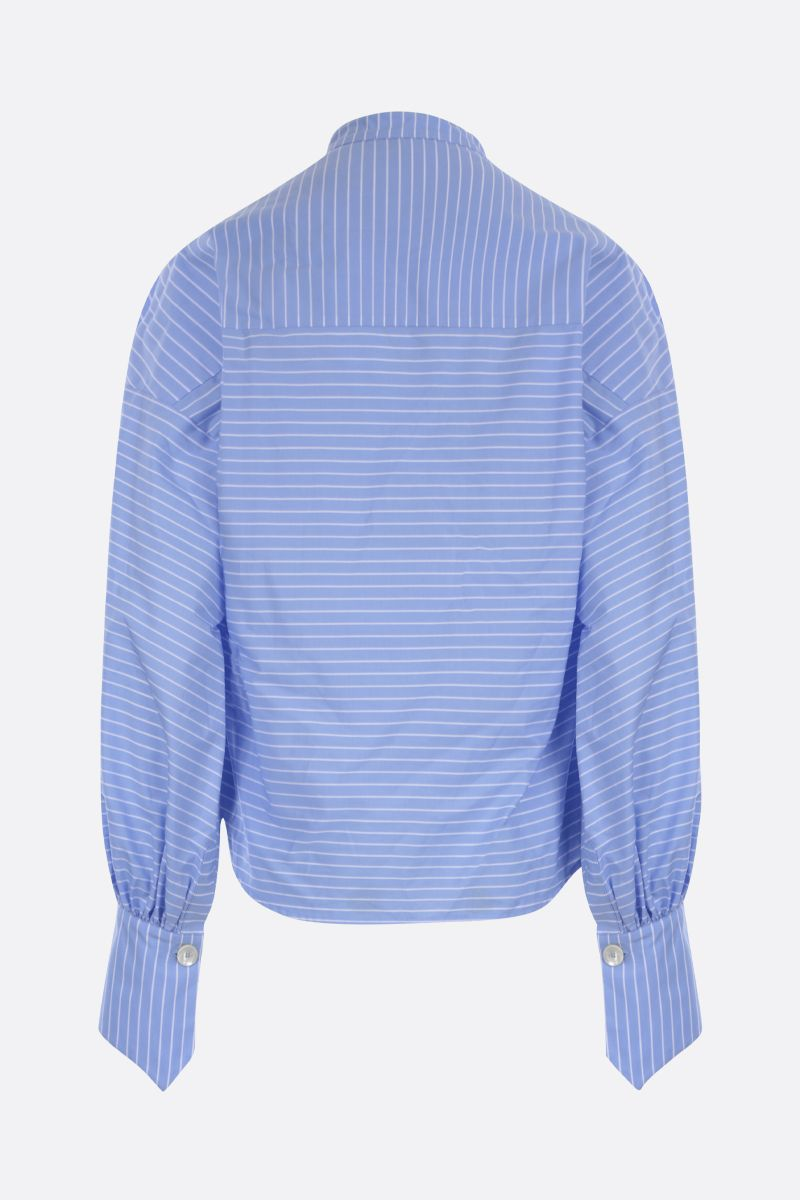 JEJIA: Maggie striped cotton blouse Color Blue_2
