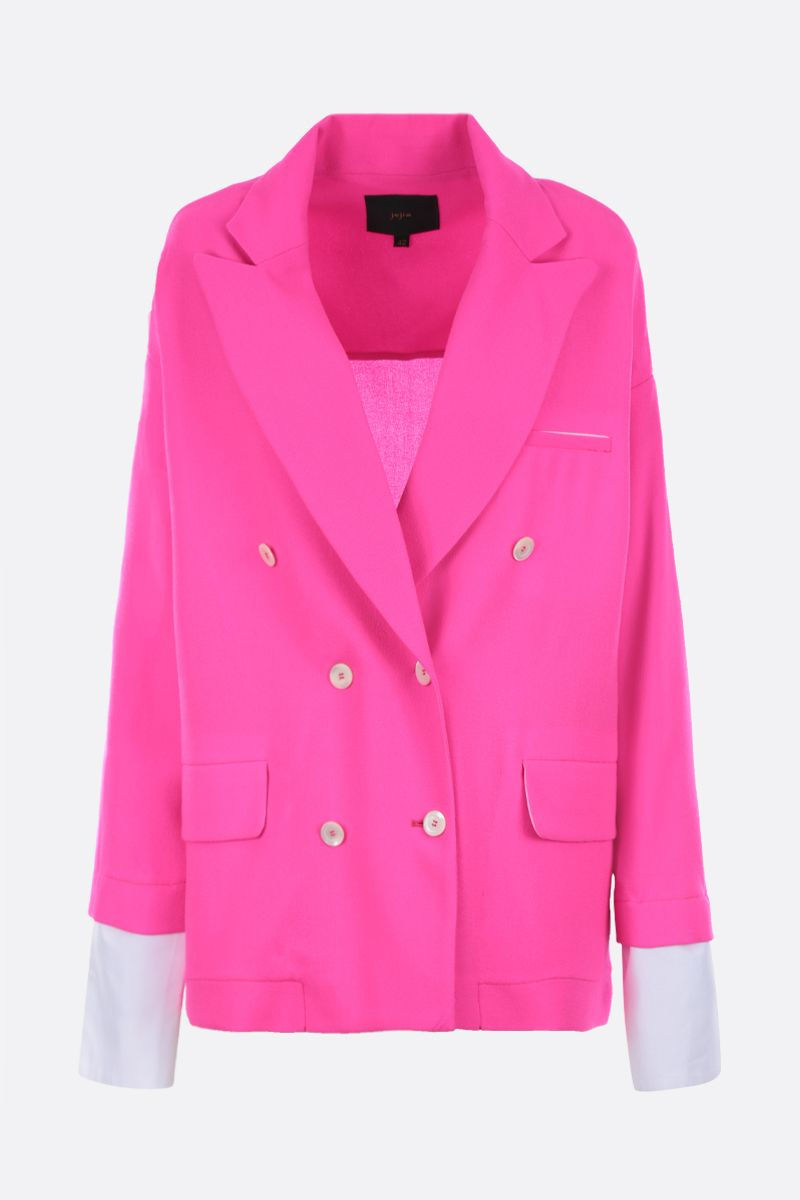 JEJIA: Katherine oversized jacket in lightweight wool Color Pink_1