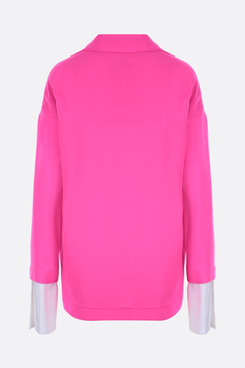 JEJIA: Katherine oversized jacket in lightweight wool Color Pink_2