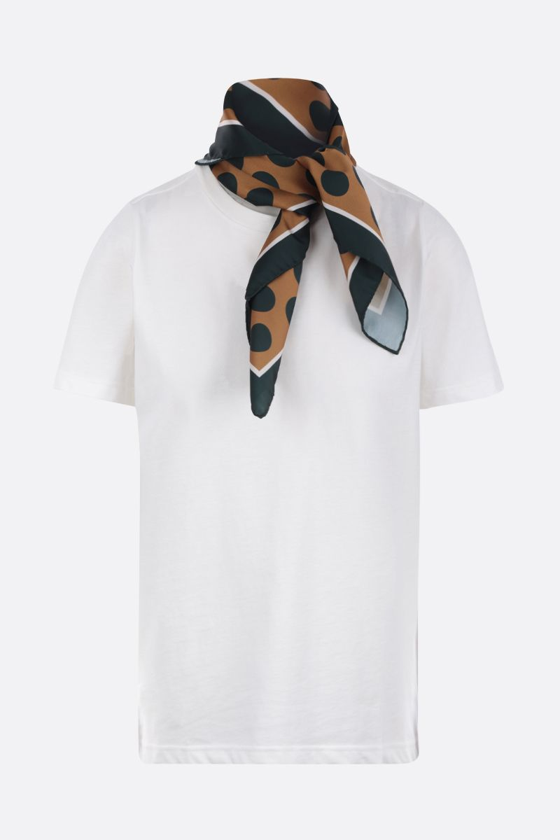 JEJIA: cotton t-shirt with twill foulard Color Multicolor_1