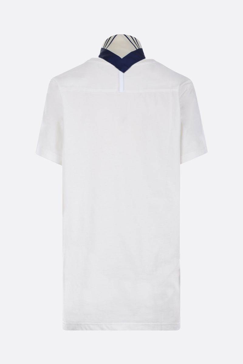 JEJIA: cotton t-shirt with twill foulard Color White_2