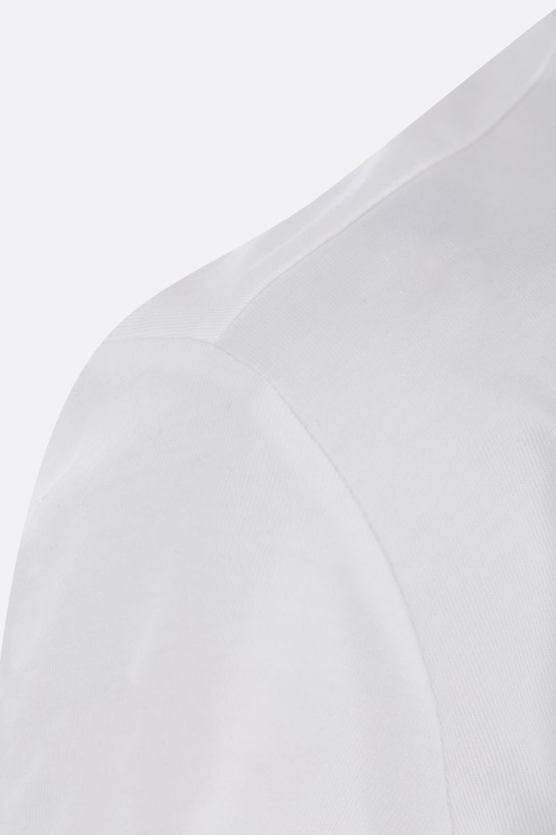 JEJIA: cotton t-shirt with twill foulard Color White_4