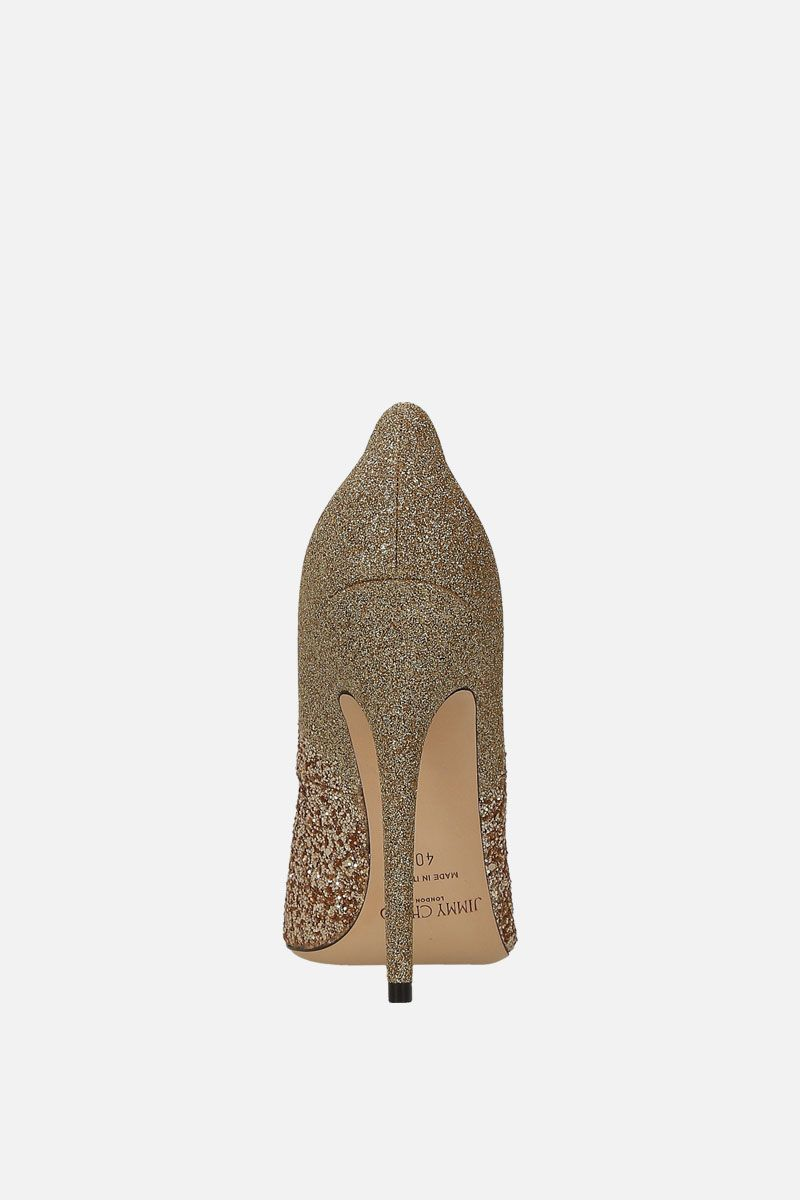 JIMMY CHOO: Anouk pumps in glitter fabric Color Gold_3