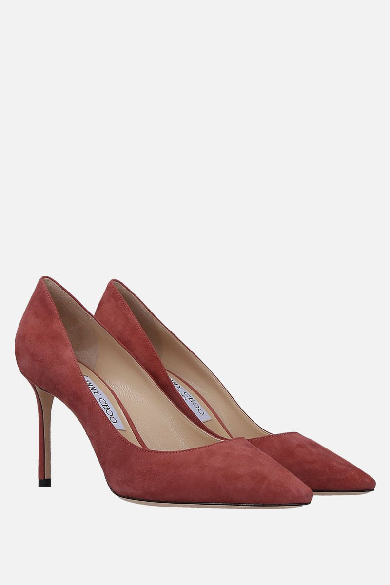 JIMMY CHOO: Romy suede pumps Color Pink_2
