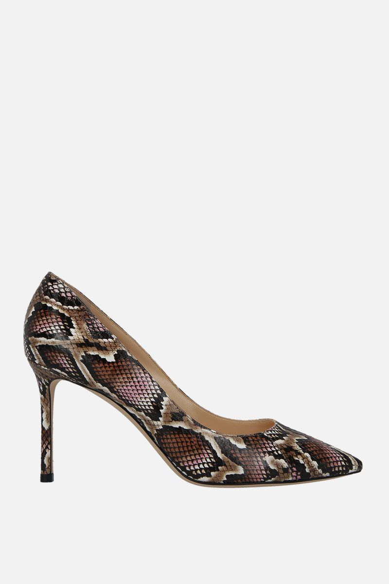 JIMMY CHOO: Romy pumps in elaphe embossed leather_1