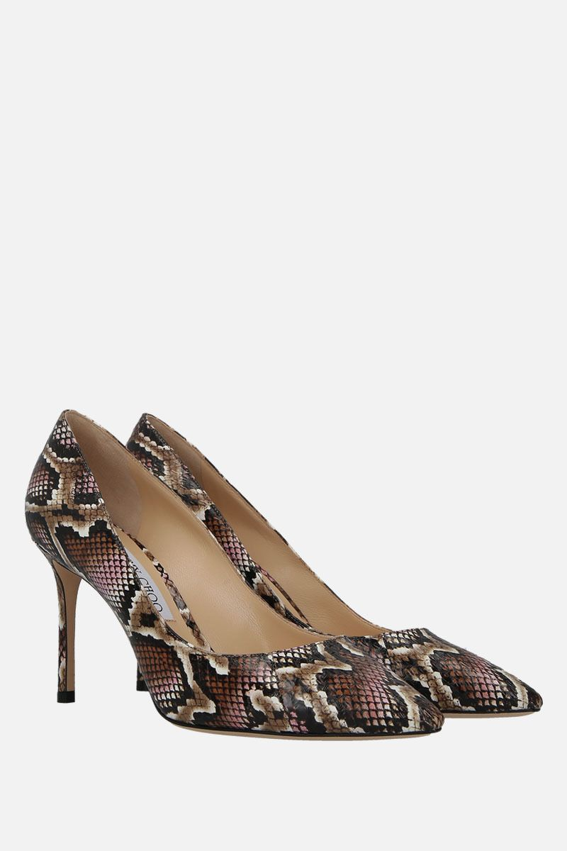 JIMMY CHOO: Romy pumps in elaphe embossed leather_2