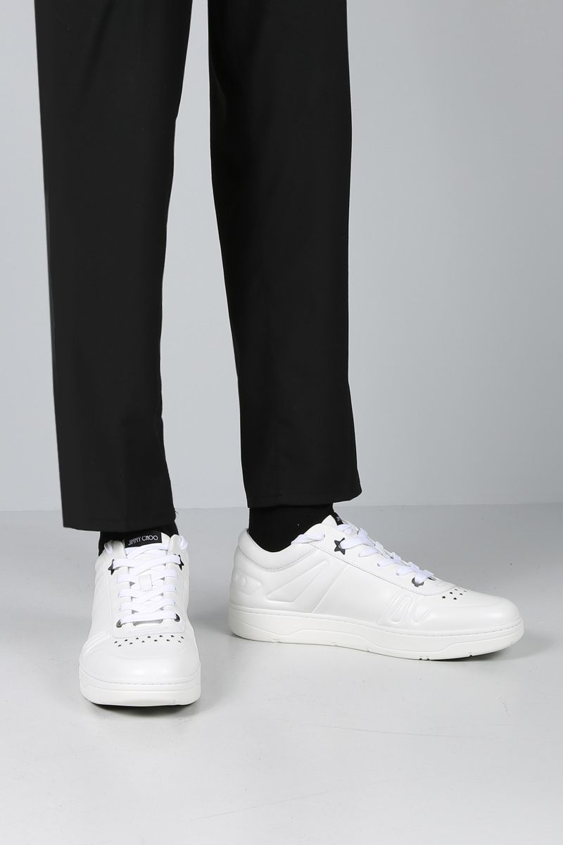 JIMMY CHOO: Hawaii/M sneakers in smooth leather Color White_2