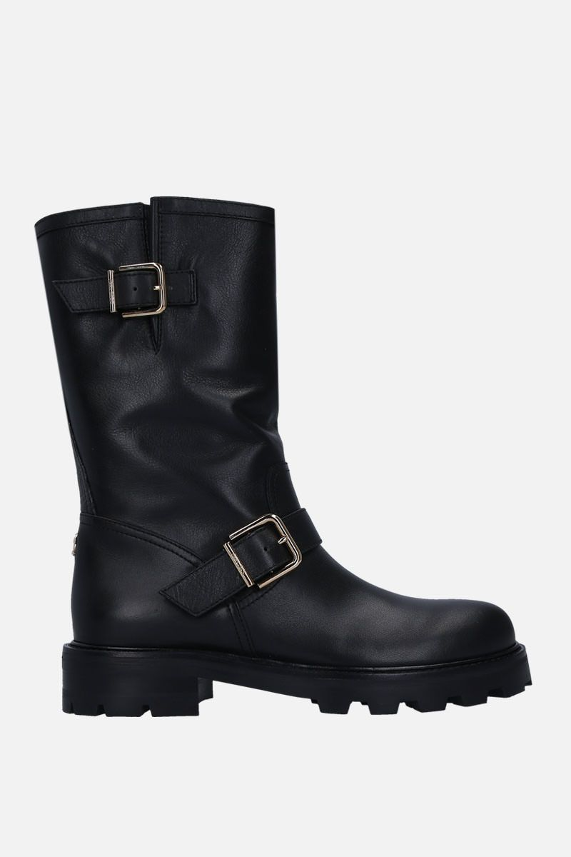 JIMMY CHOO: Biker II boots in smooth leather Color Black_1