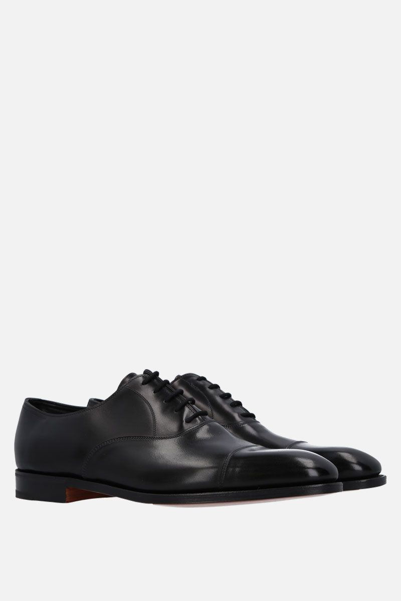 JOHN LOBB: City II oxford shoes in Museum leather Color Black_2