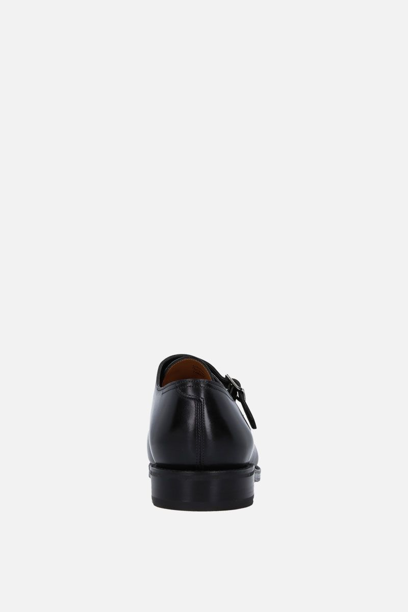 JOHN LOBB: William monk strap shoes in Museum leather Color Black_3