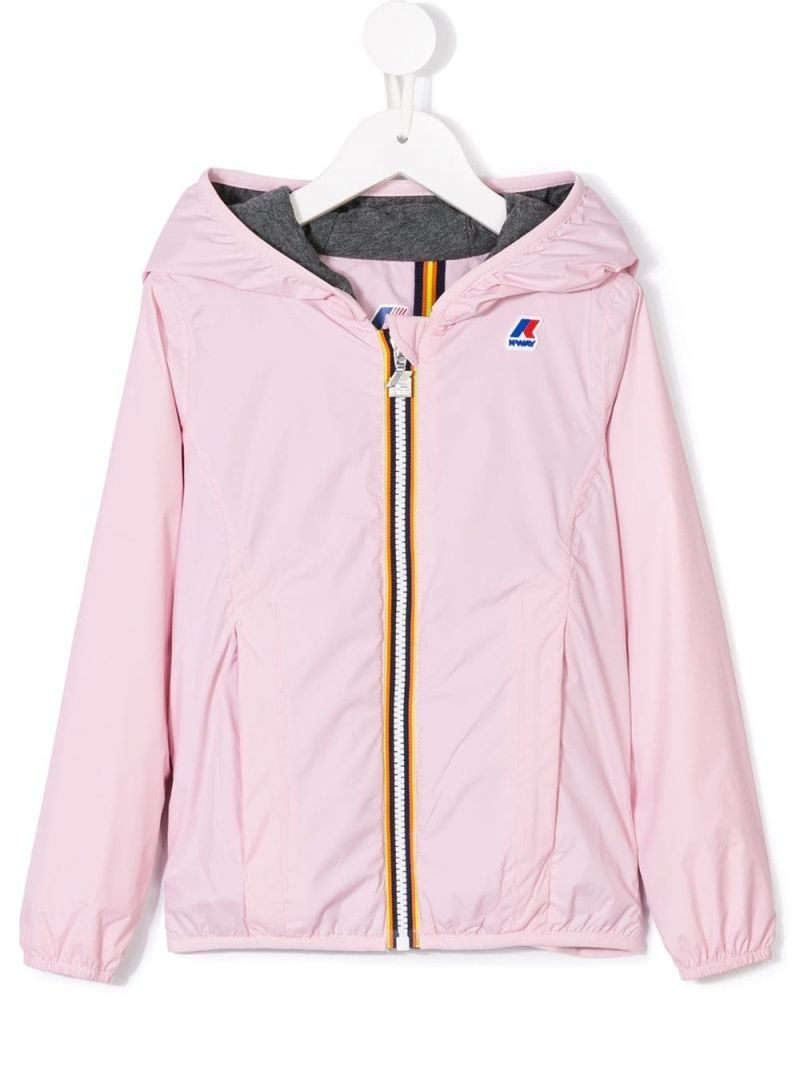 K-WAY KIDS: logo print nylon windbreaker_1