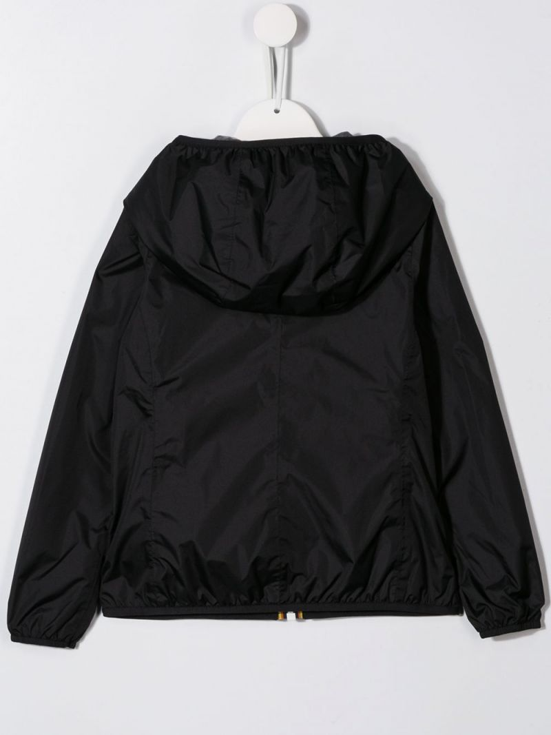 K-WAY KIDS: Lily Poly nylon windbreaker Color Black_2