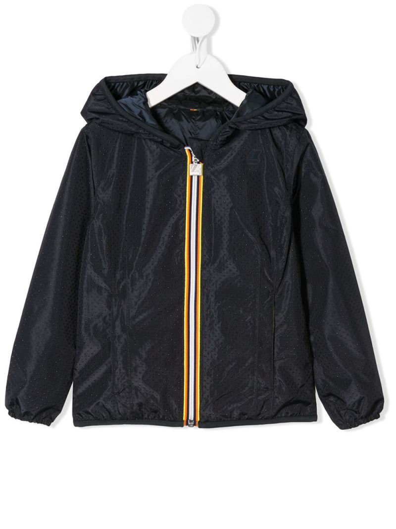 K-WAY KIDS: Lily nylon reversible windbreaker_1