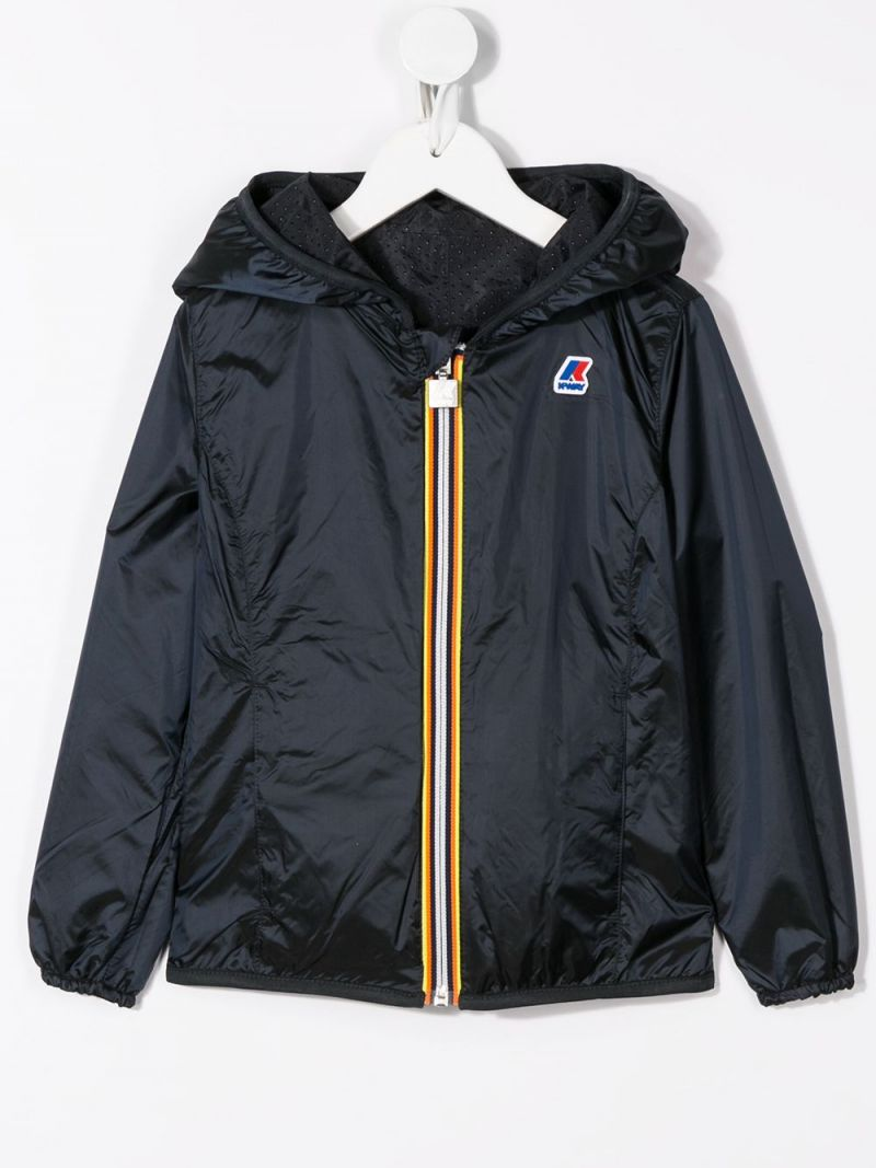 K-WAY KIDS: Lily nylon reversible windbreaker Color Blue_2