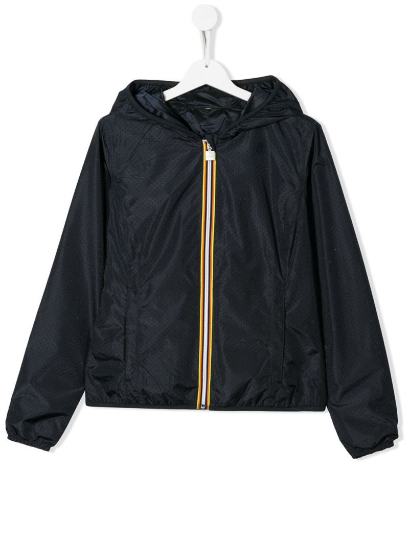 K-WAY KIDS: Lily nylon reversible windbreaker Color Blue_1