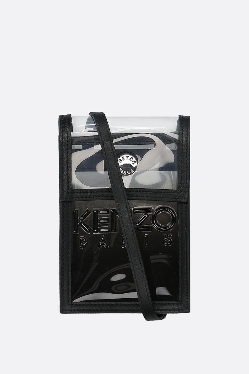 KENZO: logo print PVC smartphone case Color Black_1