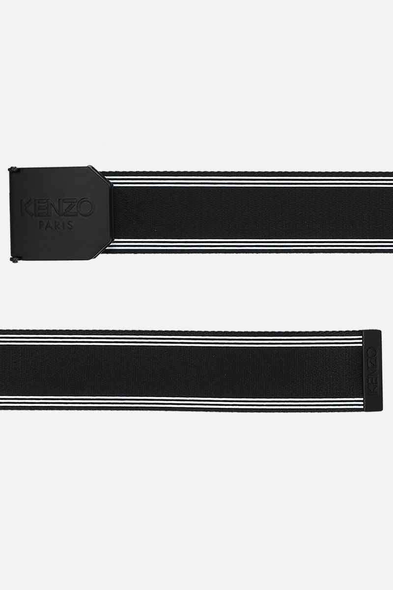 KENZO: Kenzo Logo nylon belt Color Black_2