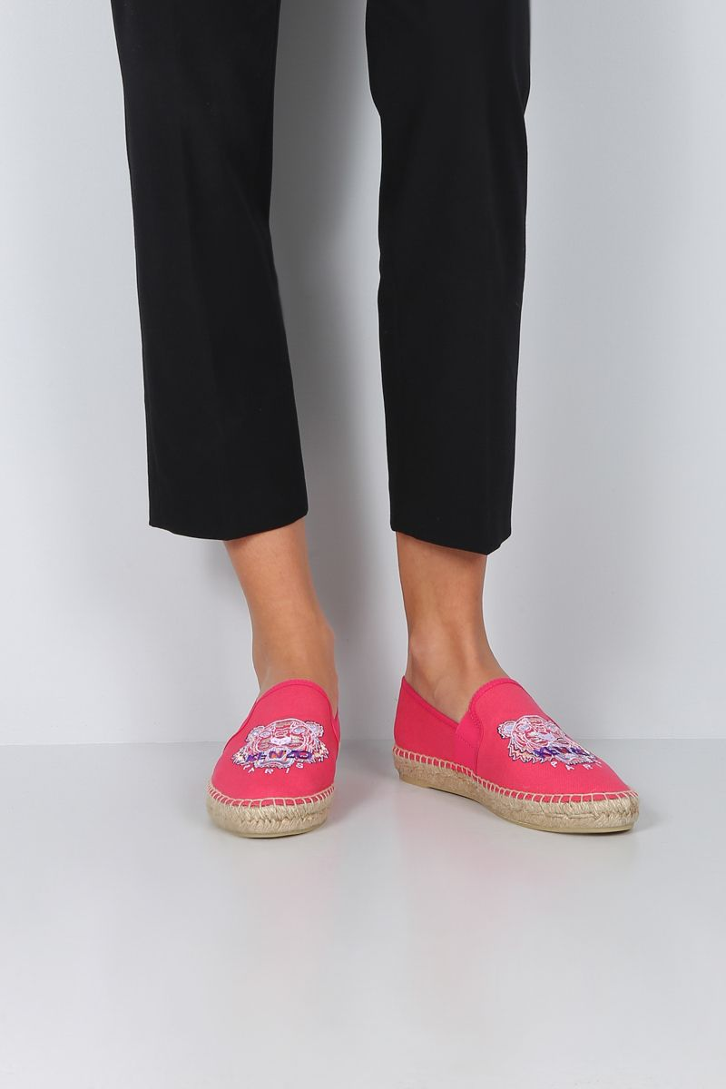 KENZO: Kenzo canvas espadrilles Color Red_2