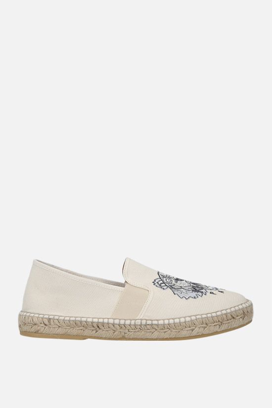 KENZO: Tiger canvas espadrilles Color Neutral_1