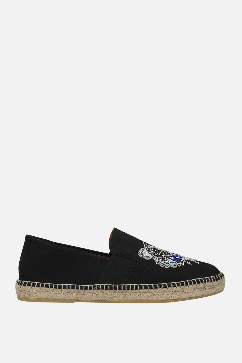 KENZO: Tiger canvas espadrilles Color Black_1