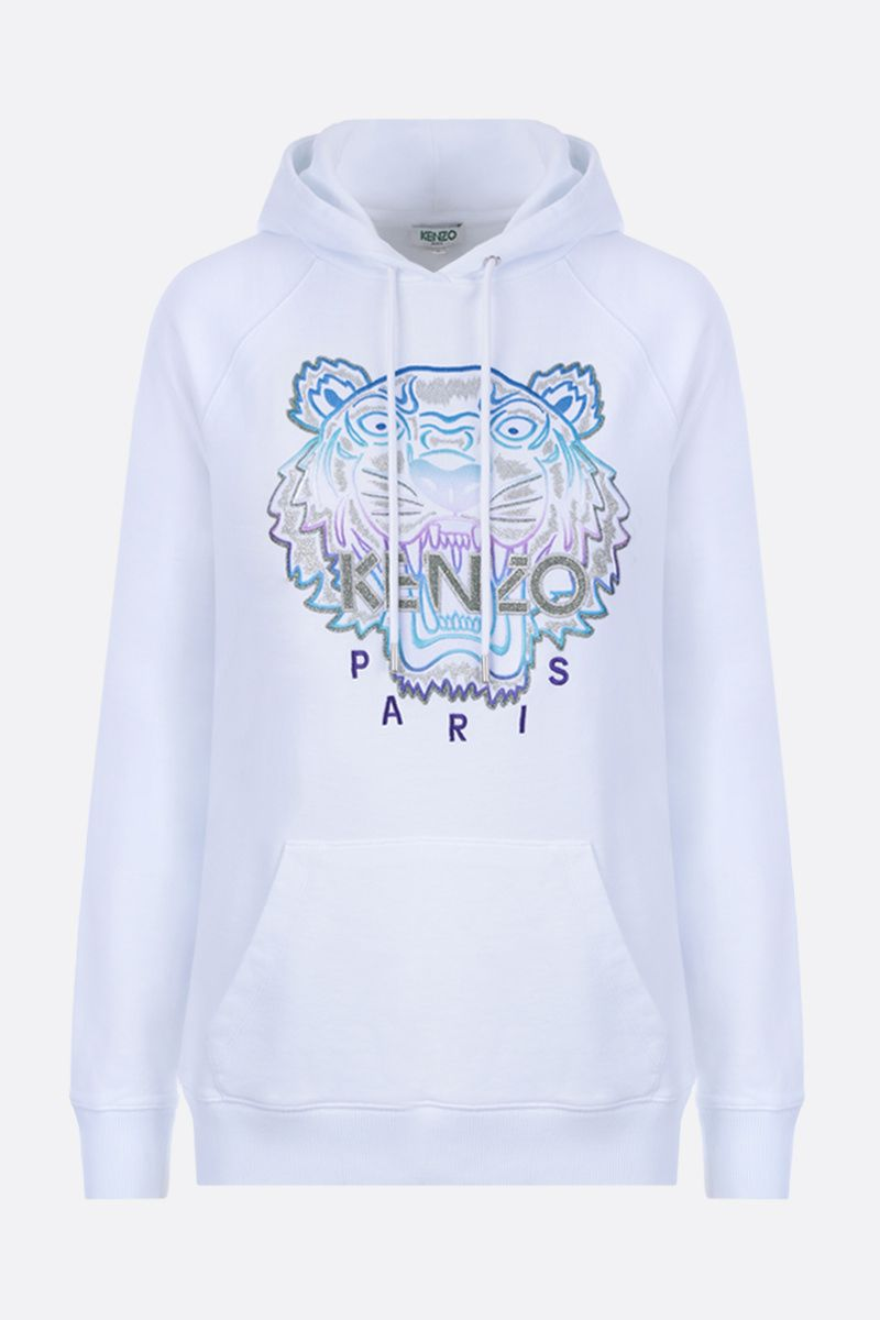 KENZO: Tiger cotton hoodie Color White