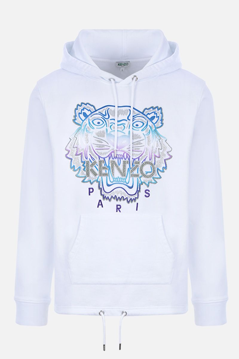 KENZO: Tiger cotton hoodie Color White_1