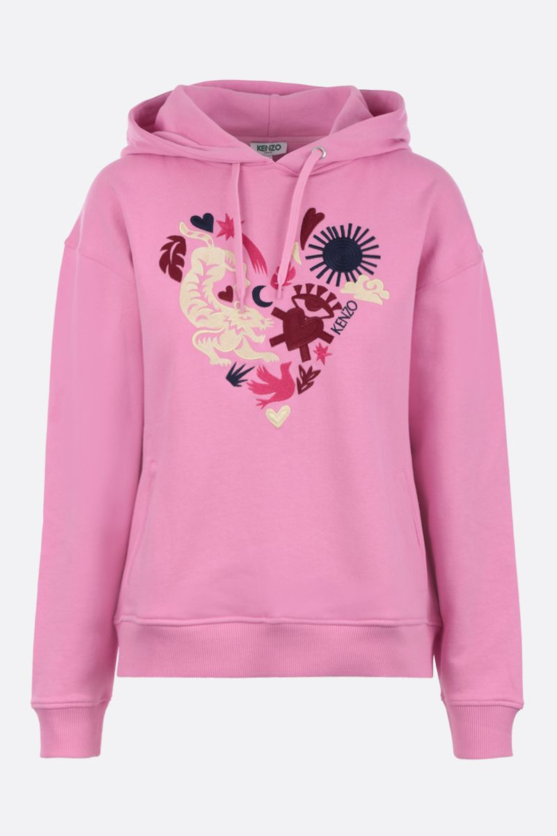 KENZO: Lucky Star cotton hoodie Color Pink_1
