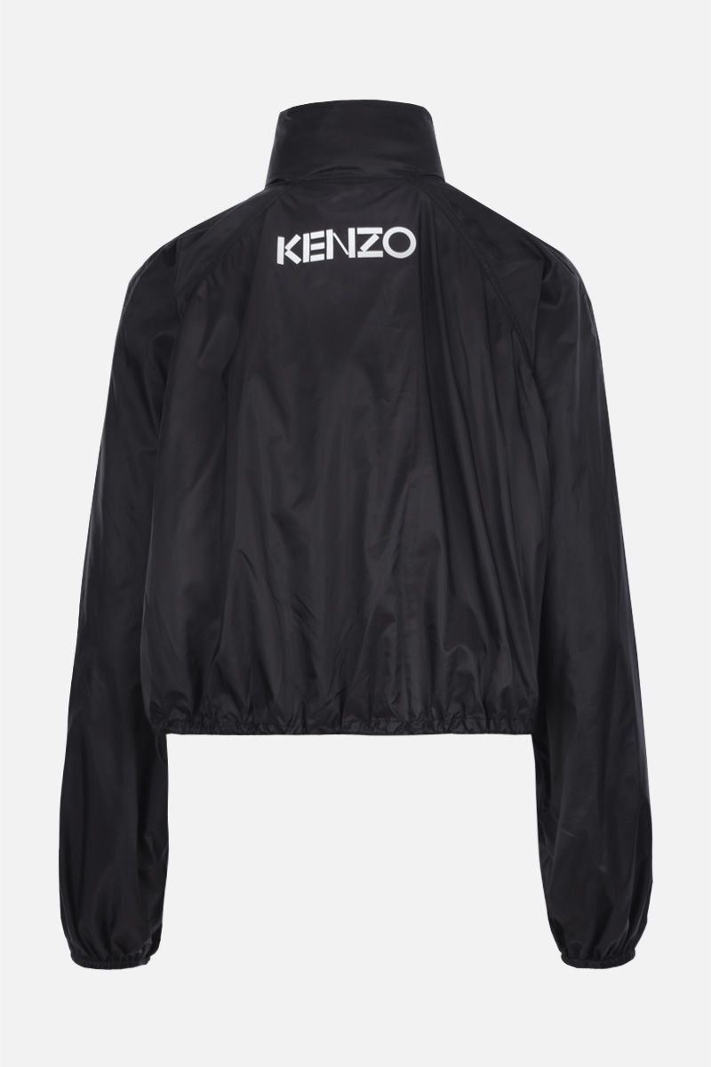 KENZO: Kenzo crop jacket in nylon Color Black_2