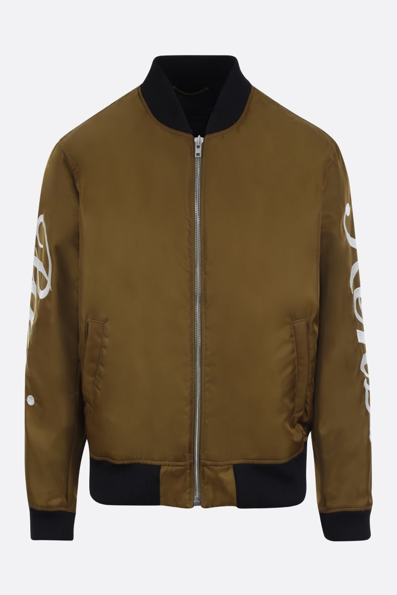 KENZO: Kenzo Paris nylon padded bomber jacket Color Brown_1