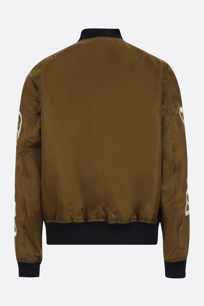 KENZO: Kenzo Paris nylon padded bomber jacket Color Brown_2