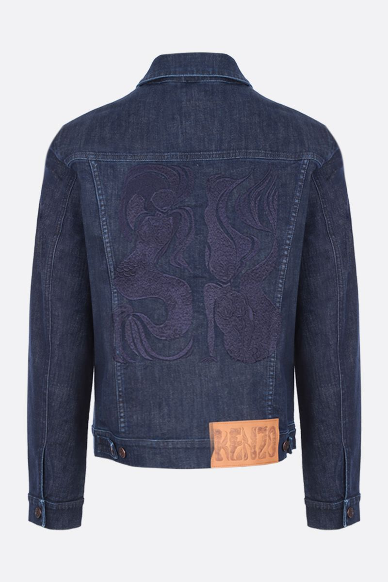 KENZO: mermaids embroidered denim jacket_2