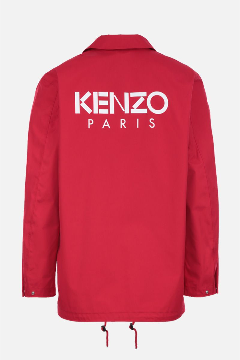 KENZO: Kenzo Paris technical cotton windbreaker Color Red_2