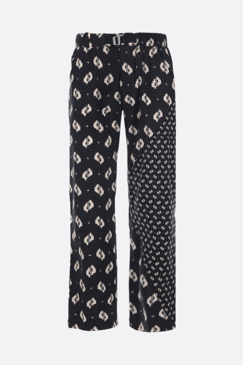 KENZO: Ikat cotton straight-fit pants Color Black_1