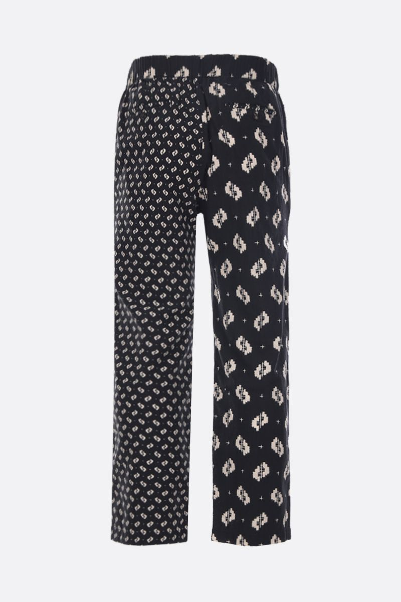 KENZO: Ikat cotton straight-fit pants Color Black_2
