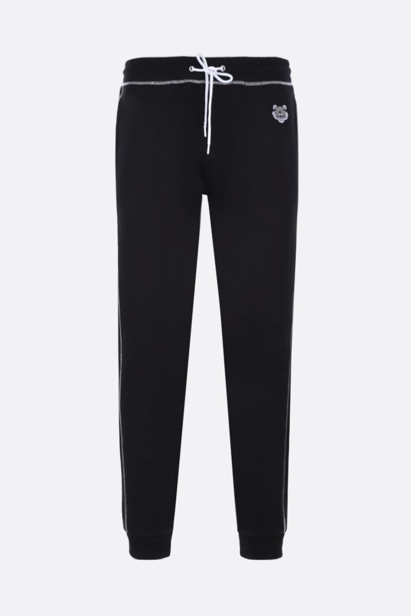 KENZO: Tiger embroidered cotton joggers Color Black_1